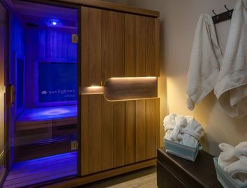 infrared sauna at Mystic Flow Wellness center